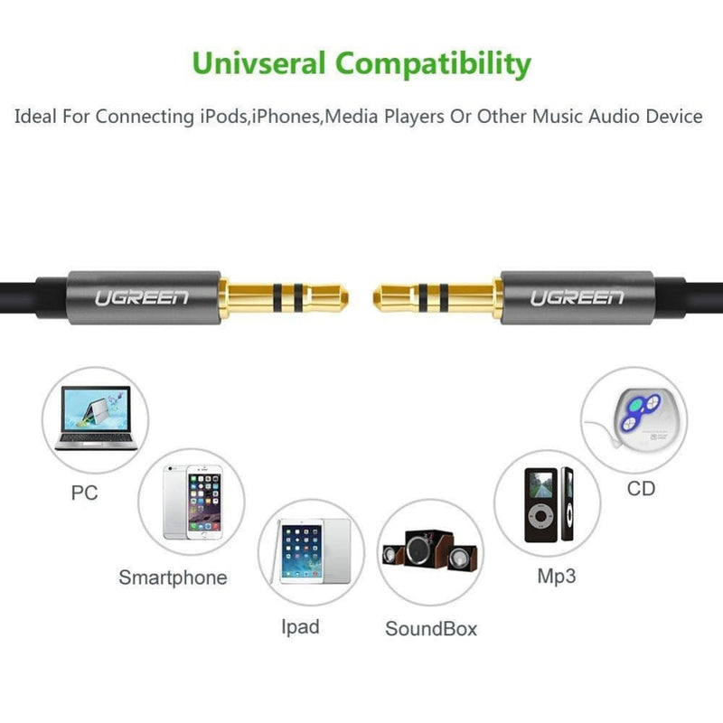 Ugreen 3.5mm Male to Audio Cable 1m (10733)