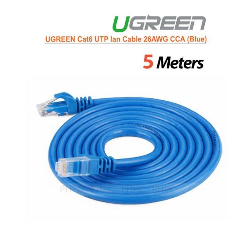 Ugreen Cat6 Utp Lan Cable Blue Color 26awg Cca 5m (11204)