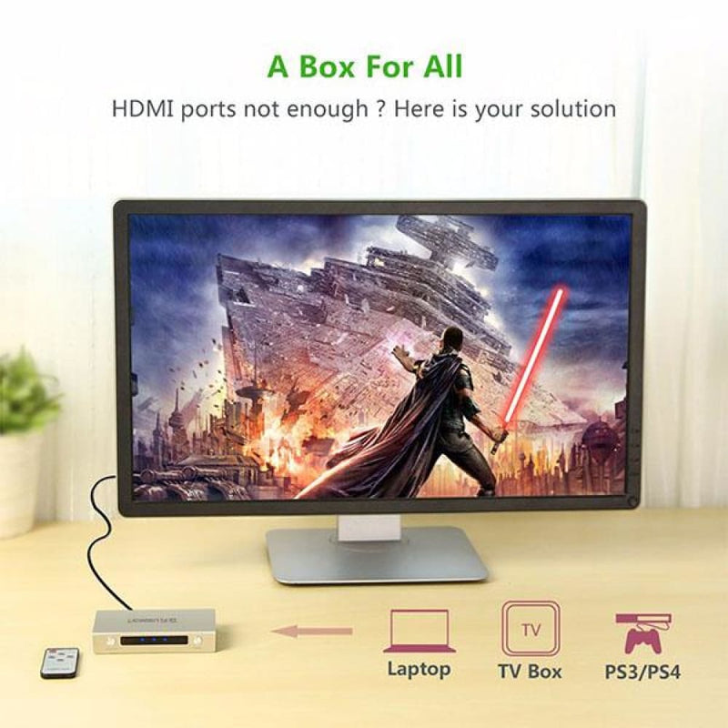 Ugreen Hdmi 3 X 1 Switch Zinc Alloy 40278