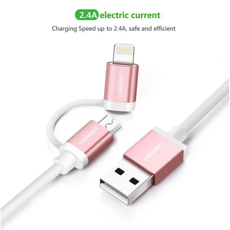 Ugreen Micro-usb to Usb Cable with Mfi Certified Iphone