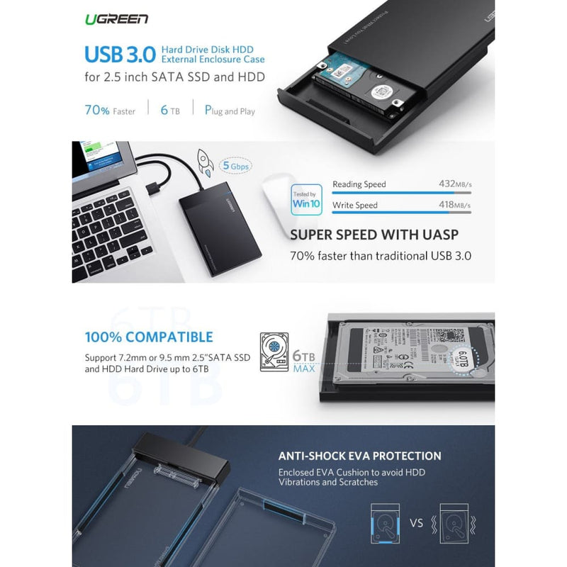 Ugreen Usb 3.0 2.5 Inch Hard Disk Box (30847)