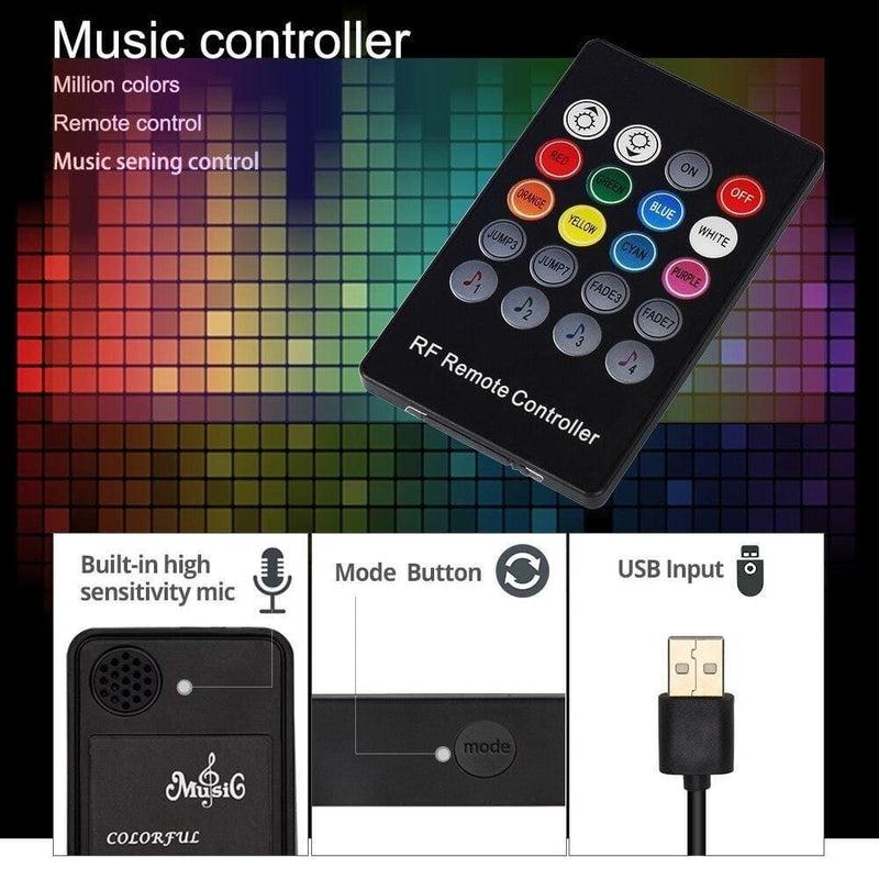 Usb Led Strip 5050 Rgb with Music Controller 20key Rf Remote