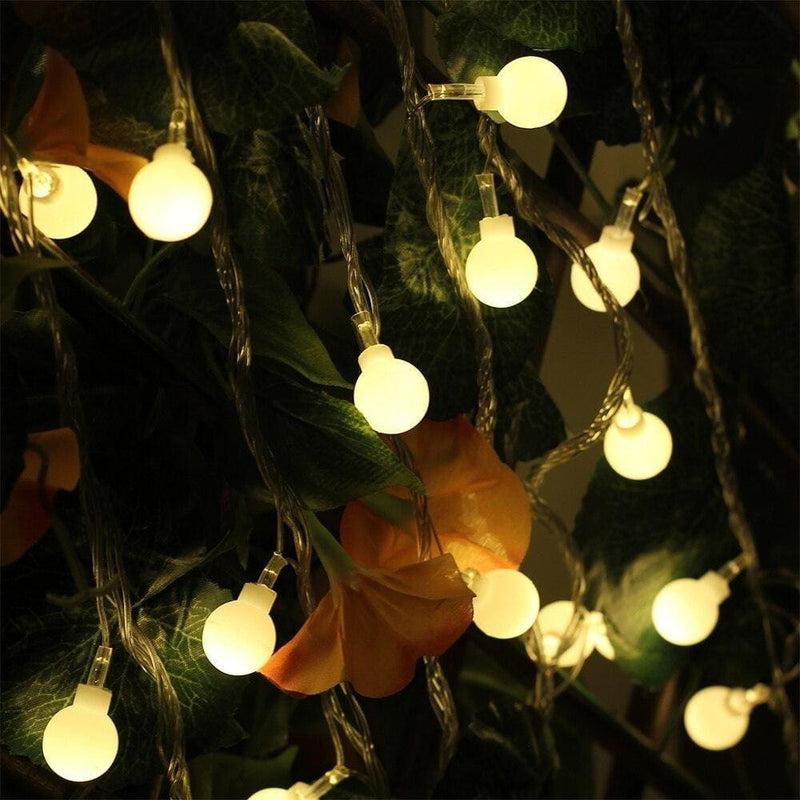 Usb Powered 10m 60leds Ball String Light 8modes Warm White