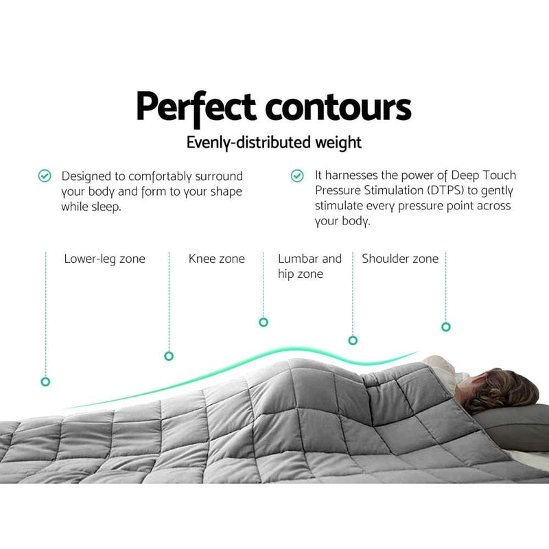 Weighted Blanket Adult 5kg Heavy Gravity Blankets Microfibre
