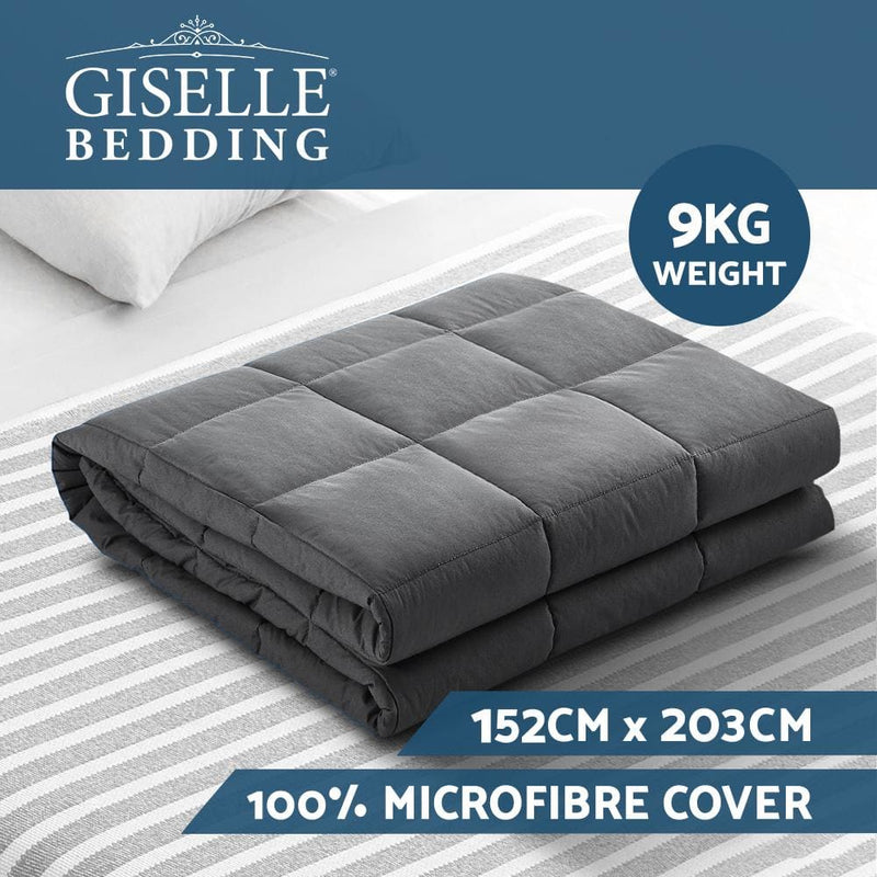 Weighted Blanket Adult 9kg Heavy Gravity Blankets Microfibre