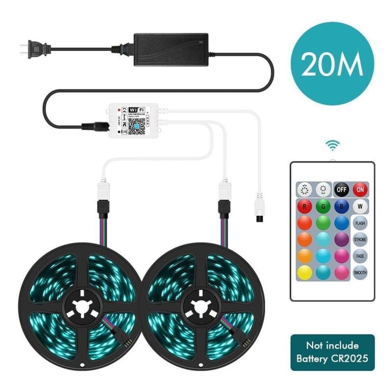Wifi Led Strip Light 5m/10m/15m/20m Dc12v 5050 Rgb String