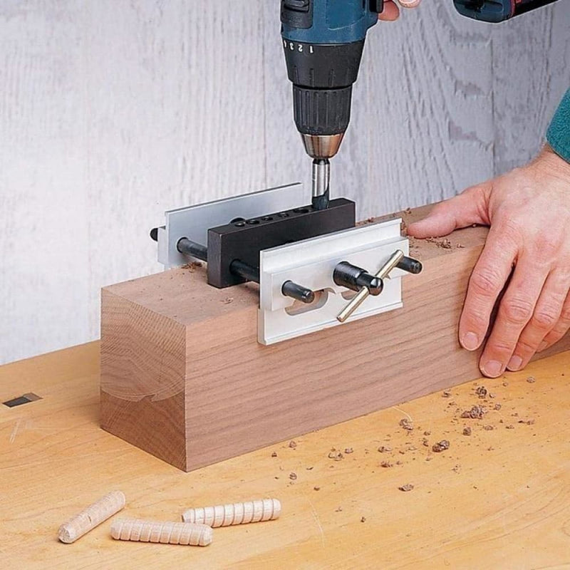 Woodworking Self-centering Doweling Jig Kit Drill Guide Set